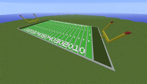 how to make a football field in your backyard american football field minecraft project