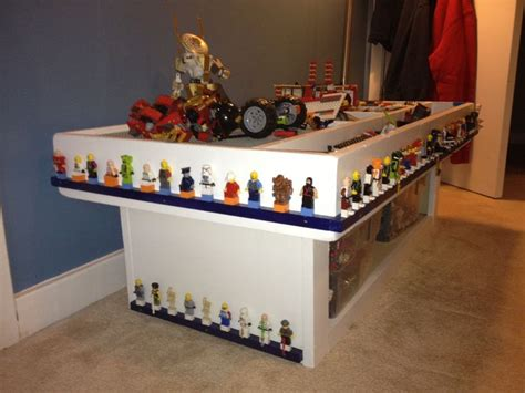 Lego Table Ideas by Lego Mini Figure Storage Around The Lego Table For The