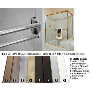 Technologylk Chrome Sliding Frameless Shower Door Double Sliding Shower Door Towel Bar