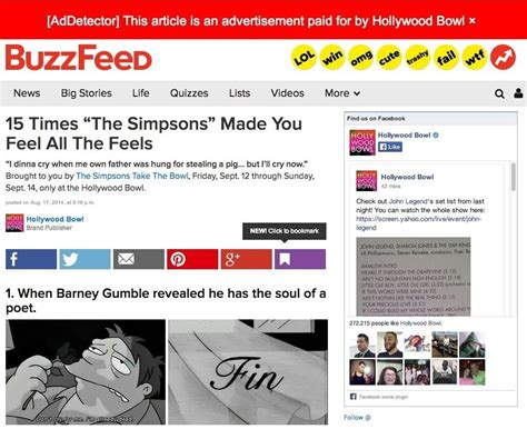 free articles instantly detect when online articles are actually ads