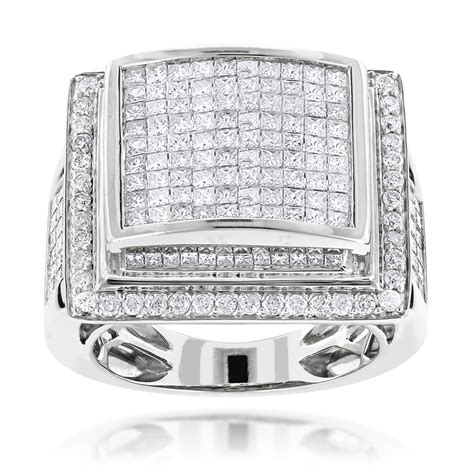 solitaire mens diamond ring princess cut diamond mans mens rings 14k mens diamond ring princess cut round 6ct