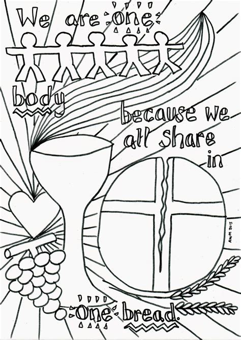 Holy Communion Printable Coloring Pages by Holy Eucharist Coloring Page