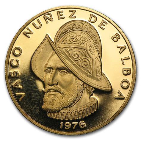 vasco nunez de balboa for 1976 panama proof gold 100 balboas vasco nu 241 ez de balboa