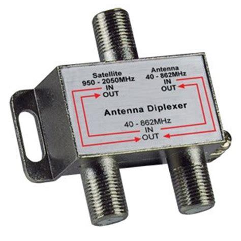 avico diplexer tv satellite antenna f type signal