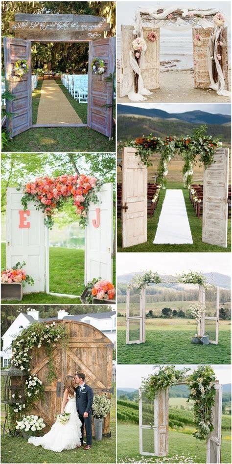 door inspired rustic  vintage wedding arch