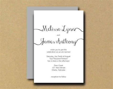 calligraphy templates for wedding invitations printable wedding invitation diy printable wedding