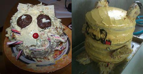 attempts  baking  cake   horribly wrong