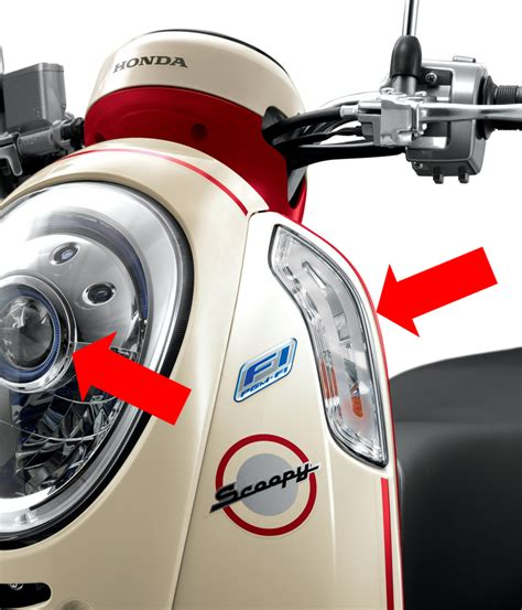 Lu Projector Honda Scoopy new scoopy fi lebih unik dan fashionable