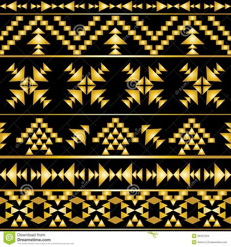 Gold Aztec Pattern | seamless colorful aztec pattern stock images image 36421204