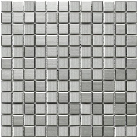 merola tile alloy square 11 7 8 in x 11 7 8 in x 8 mm stainless steel over porcelain mosaic