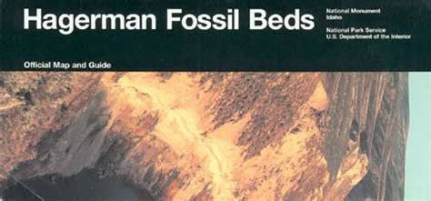 hagerman fossil beds national park service guide books brochures by park