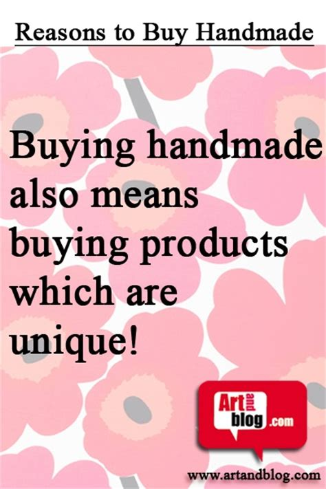 Handmade Means - buying handmade also means reasons to buy handmade