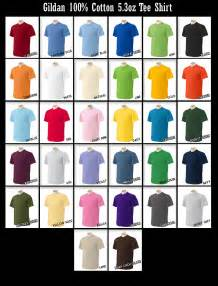 gildan shirt colors gildan t shirt color chart