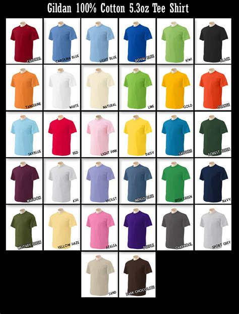 gildan colors pin gildan shirt colors on