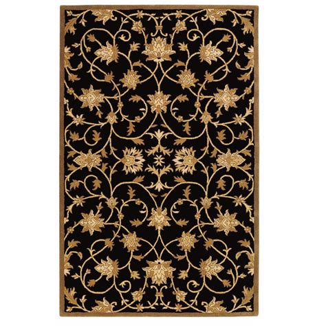 home decorators rugs home decorators collection paloma black gold 8 ft x 11 ft