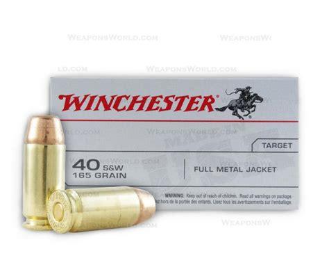 winchester 40 s w ammo 165 grain metal jacket 500