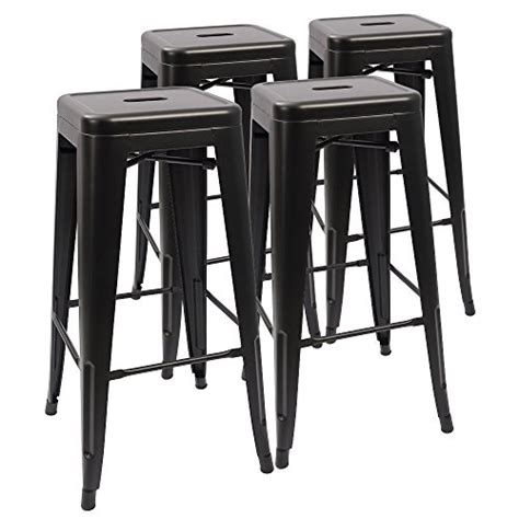 Outdoor Metal Backless Bar Stools by Devoko Metal Bar Stool 30 Stackable Backless Bar Stools