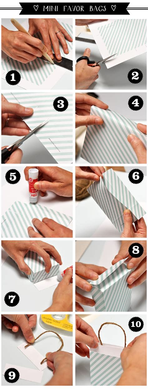 How To Make A Small Paper Gift Bag - mini gift bag or favor bag diy project smitten on