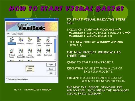 tutorial visual basic ppt visual basic ppt for tutorials computer