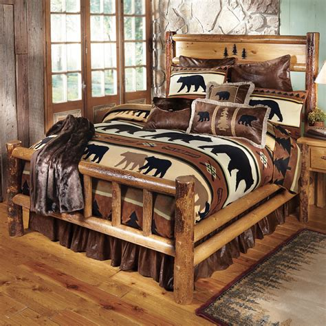log bed frame yosemite log bed king