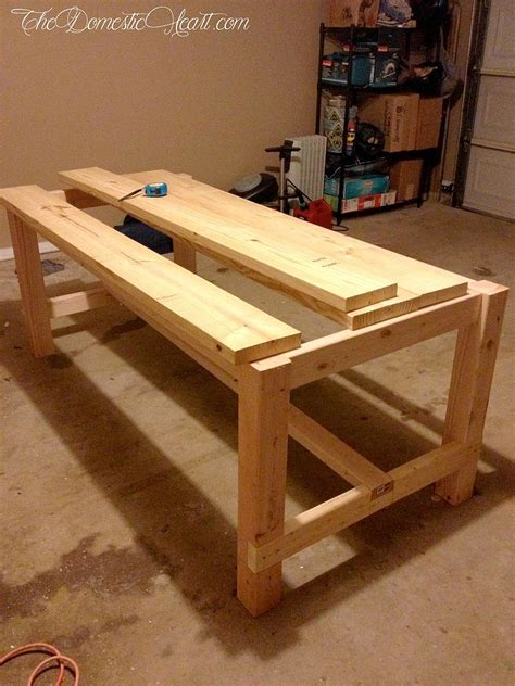rustic homemade farm style dining room table with benches hometalk 100 farmhouse dining table doablediy