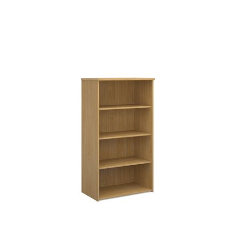 universal office furniture universal bookcase 1440mm high with 3 shelves oak www