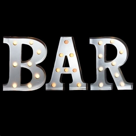 Bar Sign Light by Marquee Light Bar Led Metal Sign 10 Inch Battery Operated On Sale Now At Best Bulk