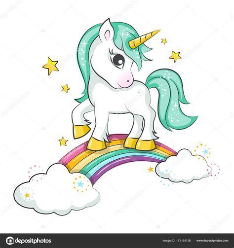 scarica clipart scarica unicorno magico sveglio illustrazione stock