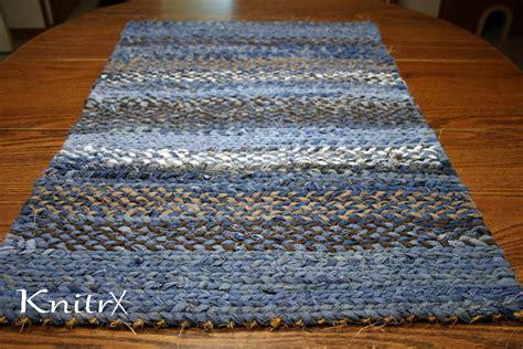 Jean Rug by Denim Twine Rag Rug Blue Jean Rug Sisal Rug Woven Rag Rug