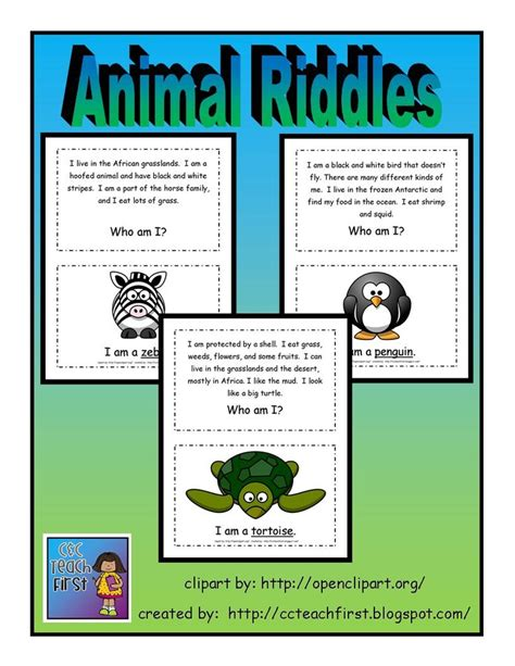 printable animal riddles 12 best riddles images on pinterest preschool printables