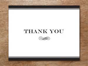 Thank You Card Template And Black by Thank You Card Template Black Stripe