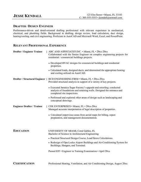 Hvac Resume Objective Exles by Great Hvac Resume Sle Hvac Resume Sles Templates Hvac Resume Format Hvac Resume