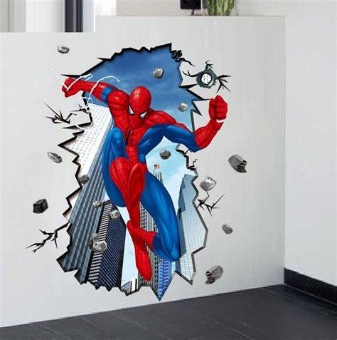 Murah 3d Wall L Decoration Spyder details about spider mural 3d wall sticker diy vinyl decal boy room
