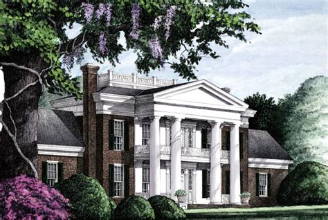 southern plantation home plans historic southern colonial plantation southern house plan 86283