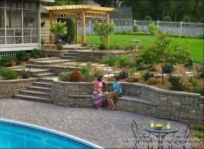 Flower Vases Designs Pool Patio Renovation Terraced Walls Amp Built In Seating