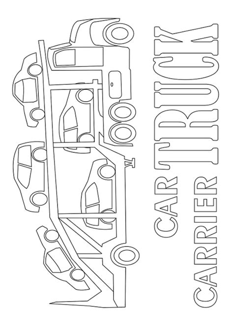 car carrier coloring page caterpillar 517 track skidder coloring at yescoloring