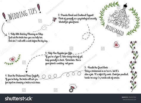 doodle list of elements set wedding doodle infographics handdrawn elements stock
