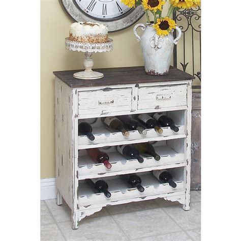 Distressed Wood Bar Cabinet 18 Bottle Distressed Wood Bar Cabinet 35019 The Home Depot