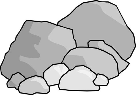 clipart rock rocks boulders 183 free vector graphic on pixabay