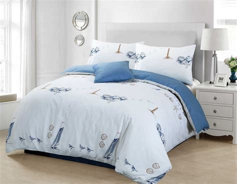 Lighthouse Bedding Sets Beachcomber Duvet Cover Nautical Lighthouse Cotton With Pillow Set Ebay