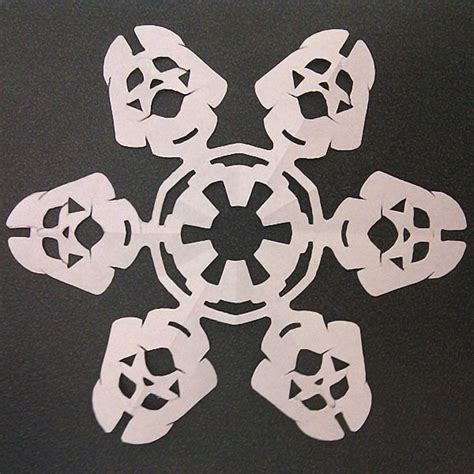 Make Your Own Paper Snowflake - make your own wars themed paper snowflakes gadgetsin