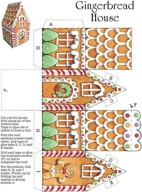 printable paper gingerbread house template welcome to dover publications