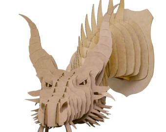 view cardboard animal large by cardboardsafari on etsy
