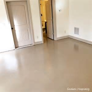 Painted Floor by How To Paint A Concrete Floor Southern Hospitality