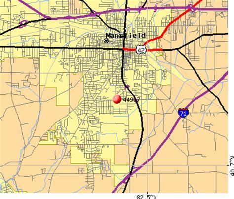 mansfield ohio zip code map   zip code map