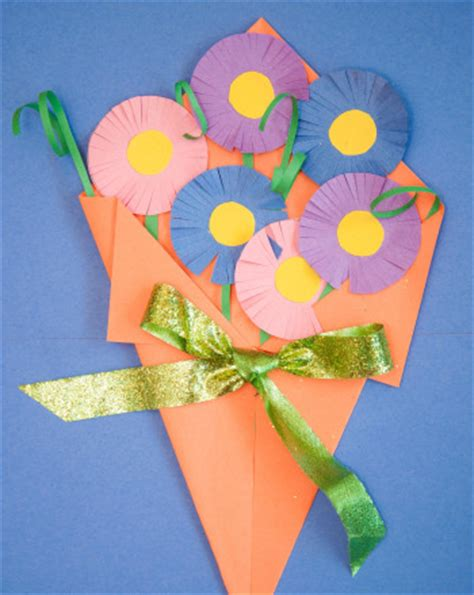 How To Make A Flower With Construction Paper - construction paper flowers activity education
