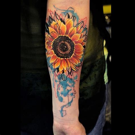 watercolor arm sleeve tattoo arm watercolor sunflower best ideas gallery