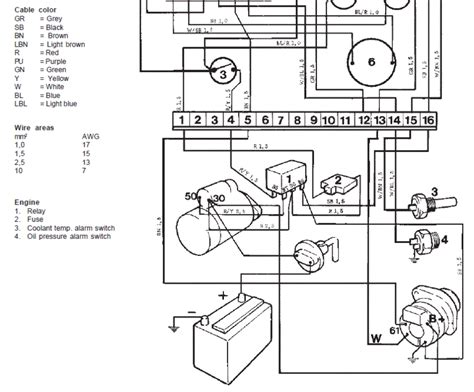 volvo penta starter relay diagram volvo free engine