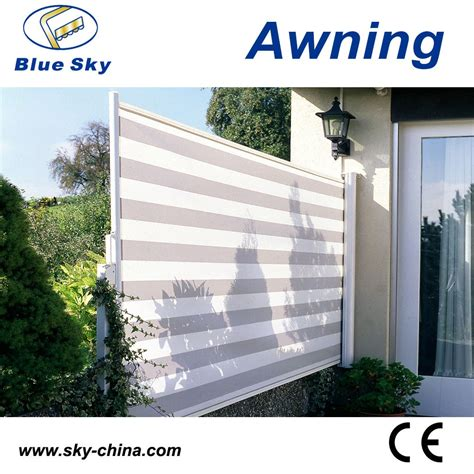 Retractable Side Awning by Outdoor Retractable Wind Screen Side Awning Screen For