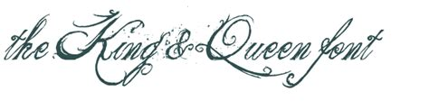 king and queen tattoo font king font style images